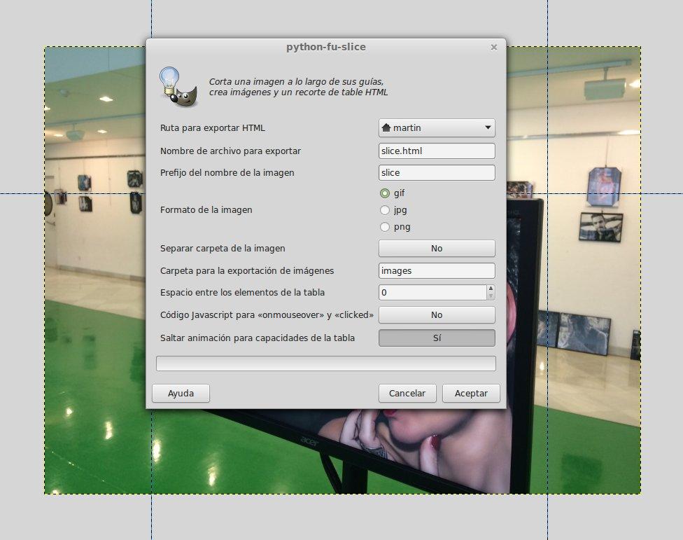 GIMP-rodajas