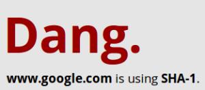 www.google.es utiliza SHA1