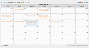 Zimbra agenda HTML libre ocupado free busy