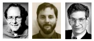 De izquierda a derecha (en sus años mozos): Dave Patterson, Garth Gibson y Randy Katz.