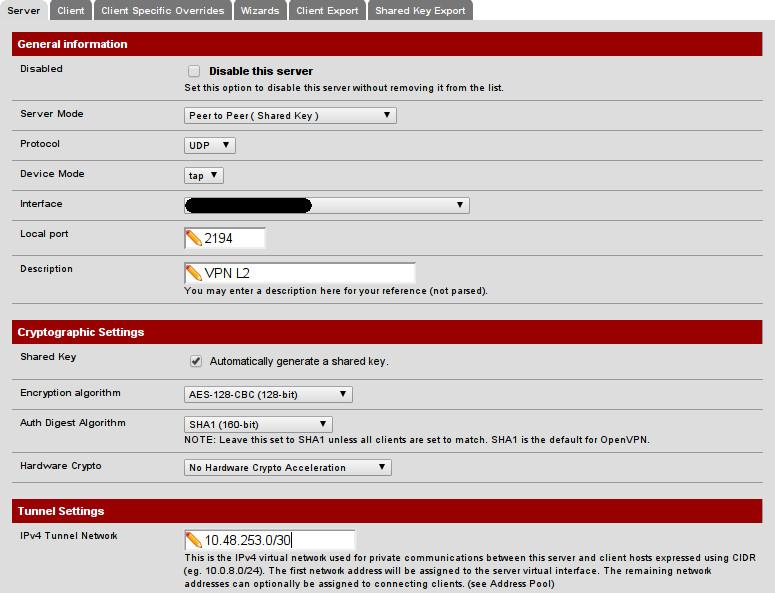 Configuración Servidor OpenVPN (1)