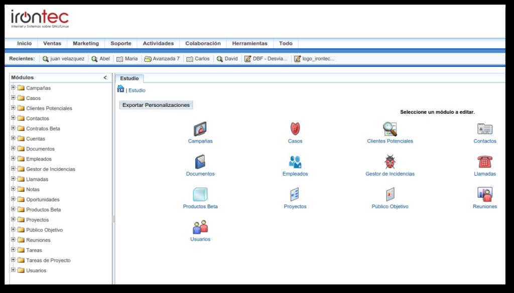 Exportar persononalizaciones en SuiteCRM