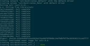 Apache Solr - docker container