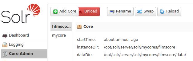 Apache SOLR - Docker - filmscore reload