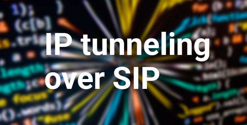 ip tunneling over SIP