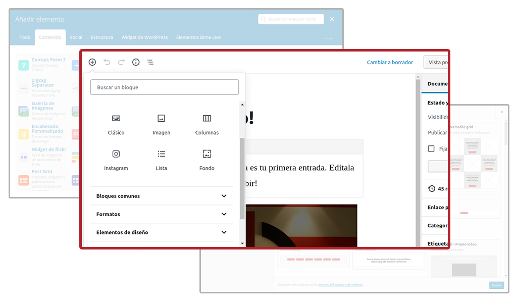 Visual Composer y Page Builder vr Gutenberg