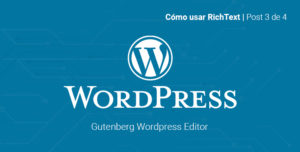 Como usar block text en Gutenberg WordPress