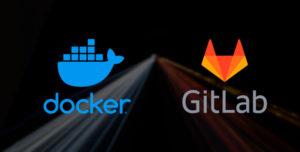 logo de docker y logo de gitlab