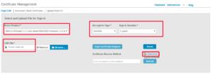 Web para firmado de certificado para Cisco